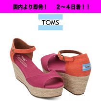 TOMS Casual Style Plain Platform & Wedge Sandals