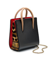 Christian Louboutin Paloma Leopard Patterns Studded Leather Party Style Crossbody