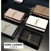 Saint Laurent Unisex Leather Keychains & Bag Charms