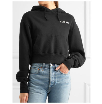 Street Style Long Sleeves Cotton Hoodies & Sweatshirts