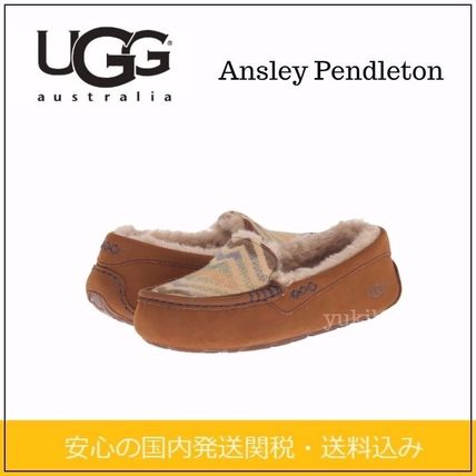 UGG Australia ANSLEY Moccasin Suede Flats