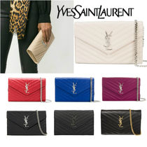 Saint Laurent Calfskin 3WAY Elegant Style Party Bags