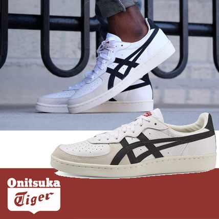 Onitsuka Tiger Plain Toe Street Style Bi-color Plain Leather Sneakers