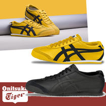 Onitsuka Tiger Street Style Bi-color Plain Leather Sneakers