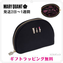 MARY QUANT Flower Patterns Nylon Plain Pouches & Cosmetic Bags