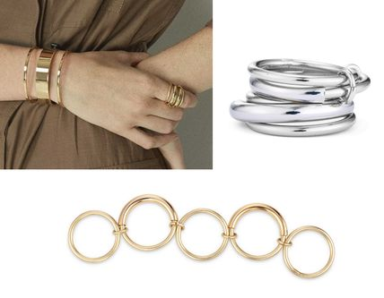 Casual Style Brass 14K Gold Rings