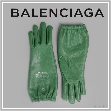 17 AW green leather glove