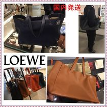 LOEWE Calfskin A4 Plain Office Style Totes
