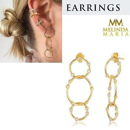 Brass Elegant Style Earrings & Piercings