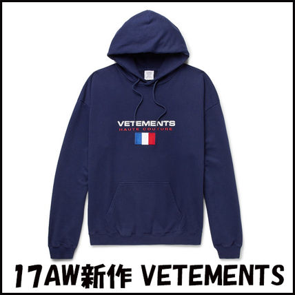 VETEMENTS Pullovers Sweat Street Style Long Sleeves Plain Hoodies