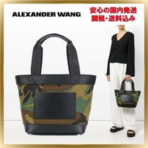 Alexander Wang Camouflage Casual Style Unisex Leather Totes