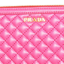 PRADA Calfskin Plain Long Wallet  Long Wallets