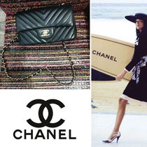 CHANEL Chain Leather Party Style Shoulder Bags