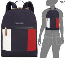 Tommy Hilfiger Unisex Canvas Bi-color Backpacks
