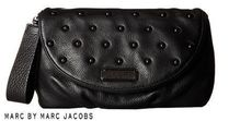 Marc by Marc Jacobs Studded 2WAY Plain Leather Elegant Style Clutches