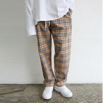 Printed Pants Tartan Other Check Patterns Unisex