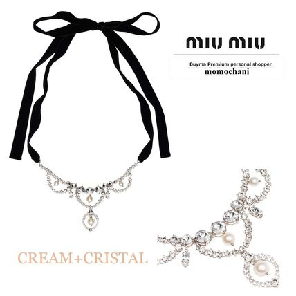b1d7c54f3edb ... MiuMiu Necklaces   Pendants Party Style With Jewels Necklaces ...