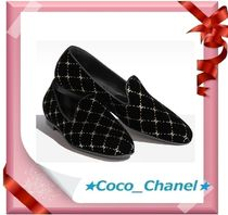 CHANEL Velvet Loafer & Moccasin Shoes