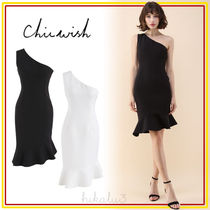 Chicwish Tight Plain Medium Dresses