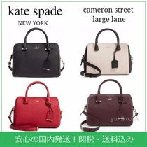 kate spade new york 2WAY Bi-color Plain Leather Elegant Style Shoulder Bags