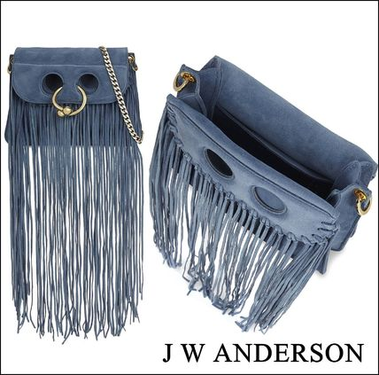 Casual Style Suede Shoulder Bags
