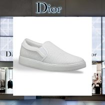 Christian Dior Plain Leather Loafers & Slip-ons