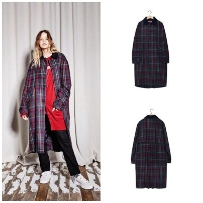 Other Check Patterns Long Coats