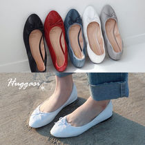 Casual Style Chunky Heels Slip-On Shoes