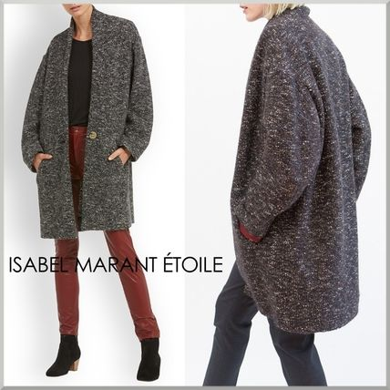 Plain Medium Oversized Elegant Style Coats