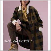 Isabel Marant Other Check Patterns Casual Style Wool Medium Coats
