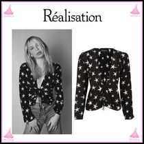 Realisation Par Star Casual Style Silk Long Sleeves Shirts & Blouses