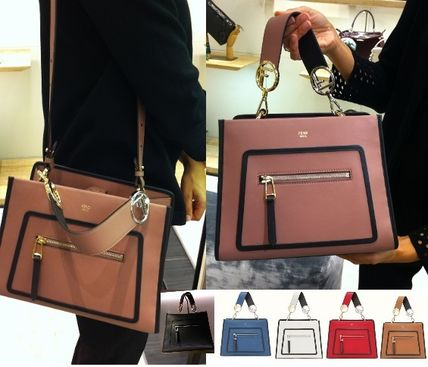 FENDI 2WAY Leather Handbags