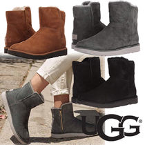 UGG Australia ABREE MINI Plain Toe Casual Style Sheepskin Plain Flat Boots