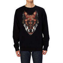 Marcelo Burlon U-Neck Long Sleeves Other Animal Patterns Cotton