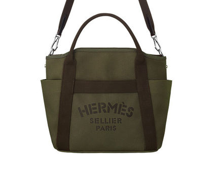 Khaki/SHW Canvas Sac de Pansage Groom Bag