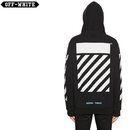 Off-White Pullovers Street Style Long Sleeves Cotton Hoodies