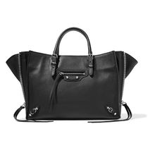 BALENCIAGA PAPIER A4 Calfskin Papier A6 Zip Around Bag (Black/Grey Fossile/Red)