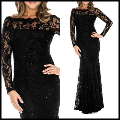 Decode 1.8 Dresses Flower Patterns Maxi Boat Neck Long Sleeves Long Lace