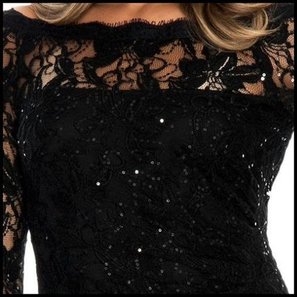 Decode 1.8 Dresses Flower Patterns Maxi Boat Neck Long Sleeves Long Lace 3