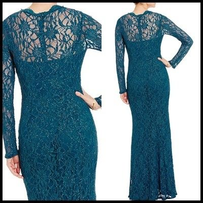 Decode 1.8 Flower Patterns Maxi V-Neck Long Sleeves Long Lace Dresses