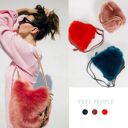 Free People Casual Style Faux Fur 2WAY Backpacks