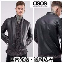 ASOS Plain Leather Biker Jackets