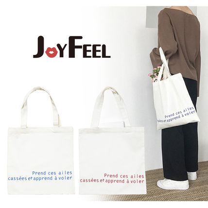 Casual Style Suede A4 Plain Shoppers