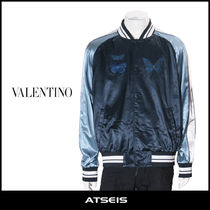 VALENTINO Short Street Style Other Animal Patterns Souvenir Jackets