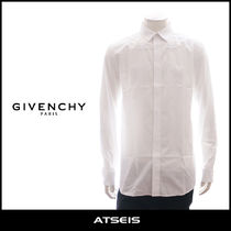 GIVENCHY Street Style Long Sleeves Plain Cotton Shirts