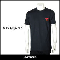 GIVENCHY Crew Neck Pullovers Star Street Style Cotton Short Sleeves