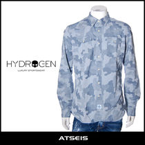 Hydrogen Camouflage Street Style Long Sleeves Cotton Shirts