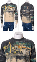 PRADA Crew Neck Pullovers Wool Street Style Long Sleeves Sweaters