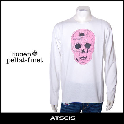 Crew Neck Pullovers Skull Street Style Long Sleeves Cotton