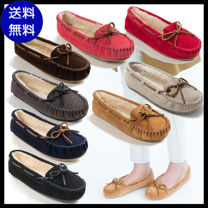 Moccasin Casual Style Suede Plain Flats